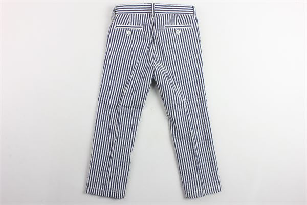 pantalone girovita regilabile tasca america rigato IL GUFO | Pantaloni | P19PL133C1063BLU