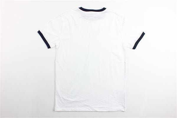 t-shirt mezza manica tinta unita con profili in contrasto IL GUFO | T-shirts | P19TS161M0014BIANCO