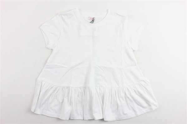 t-shirt mezza manica tinta unita in cotone IL GUFO   T-shirts   P19TS166M0014BIANCO
