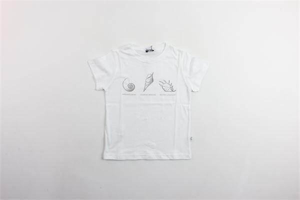 t-shirt mezza manica tinta unita con stampa IL GUFO | T-shirts | P19TS173M0014BIANCO