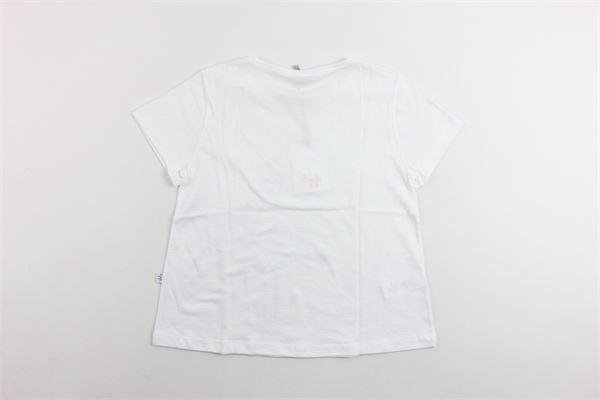 t-shirt mezza manica tinta unita con stampa IL GUFO   T-shirts   P19TS188M0014BIANCO