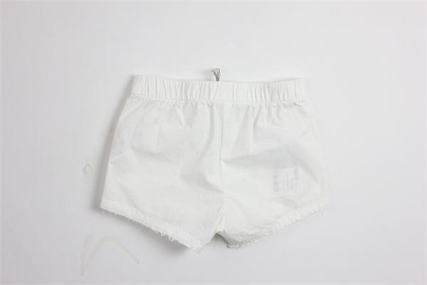shorts tinta unita 100%cotone con tasche IL GUFO   Shorts   PS040C6031BIANCO