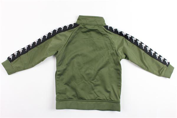 felpa triacetata con zip e profili kappa KAPPA | Felpe | 301EFU00VERDE