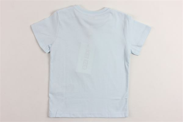 t-shirt mezza manica tinta unita con stampa kenzo KENZO | T-shirts | KN10577AZZURRO