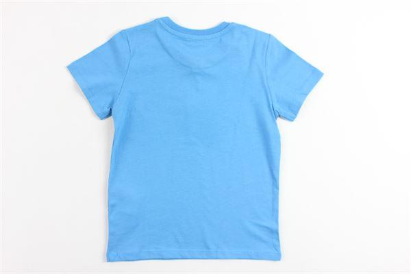 t-shirt mezza manica in cotone tinta unita con stampa KENZO | T-shirts | KN10578AZZURRO