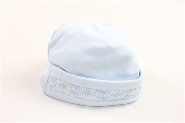 cappello in cotone tinta unita profili ricamati KISSY KISSY PREMIER | Cappelli | F14995CELESTE
