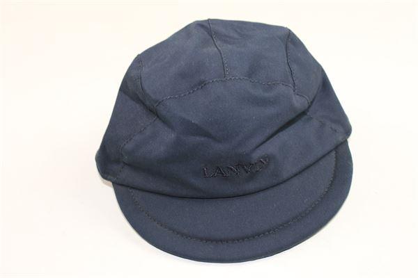 cappello tinta unita con stampa lanvin LANVIN | Cappelli | 4G0317GF870620BLU