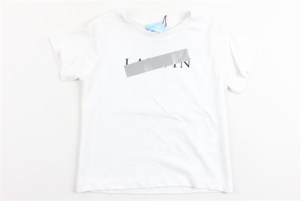 t-shirt mezza manica tinta unita con stampa LANVIN | T-shirts | 4K8021BIANCO