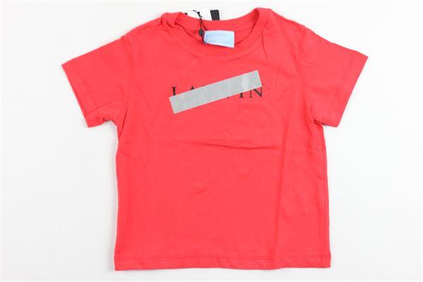 t-shirt mezza manica tinta unita con stampa LANVIN | T-shirts | 4K8021ROSSO