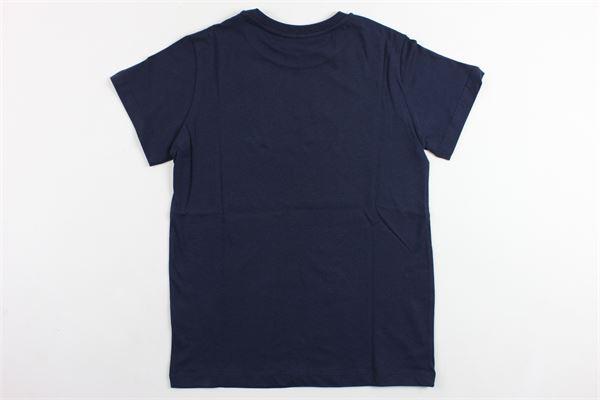 t-shirt mezza manica tinta unita con stampa LANVIN | T-shirts | 4K8031BLU