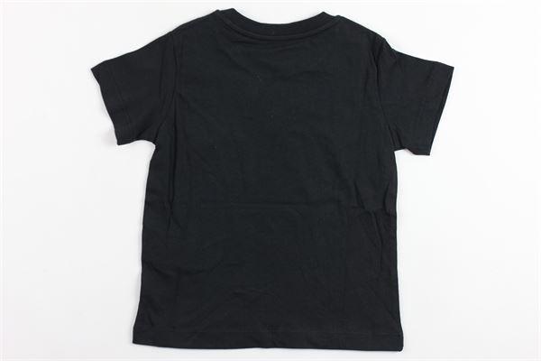 t-shirt mezza manica tinta unita con stampa LANVIN | T-shirts | 4K8031NERO