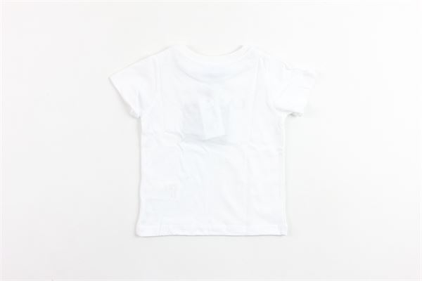 t-shirt mezza manica tinta unita con stampa LANVIN | T-shirts | 4K8311BIANCO
