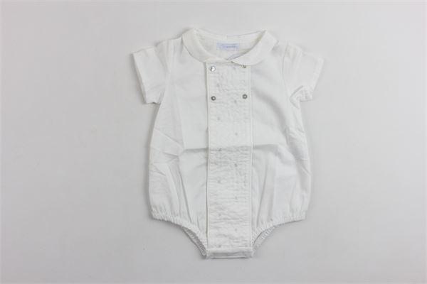 camicia a body mezza manica tinta unita LARANJINHA | Camicie | V8461BIANCO