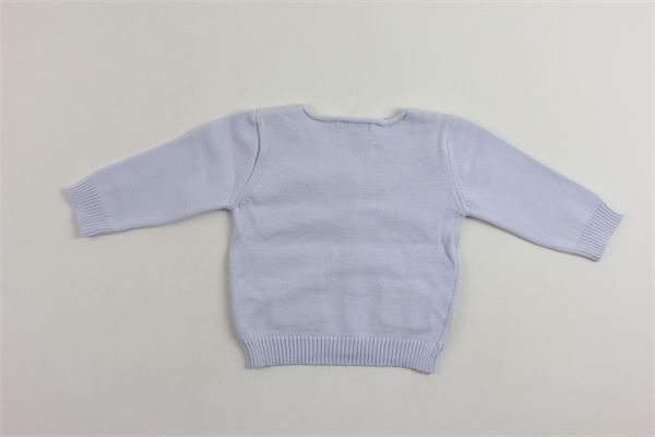 cardigan manica lunga in cotone tinta unita con taschino LARANJINHA | Cardigan | V8653CELESTE
