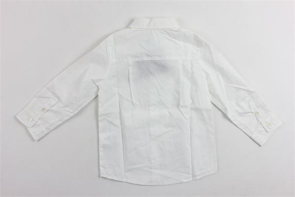 camicia manica lunga tinta lunga con stampa LANVIN | Camicie | 4G5310BIANCO