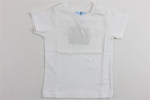 t-shirt mezza manica in cotone stampa lavin LANVIN | T-shirts | 4G8311BIANCO