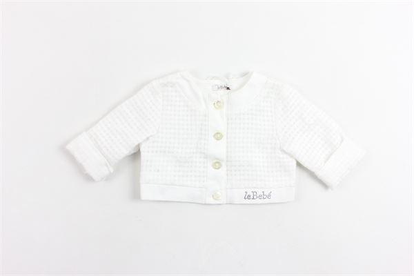 giacca tinta unita microfantasia LE BEBE' | Giacche | LBG0828/1BIANCO