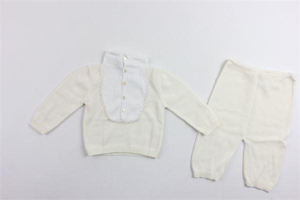 completo shirt manica lunga più pantalone 100%cotone LE GUIGNOL | Completi | CR0051PANNA