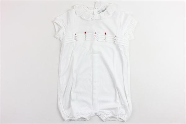 tutina mezza anica tinta unita collo in rouches LE GUIGNOL | Tutine | PU0004BIANCO