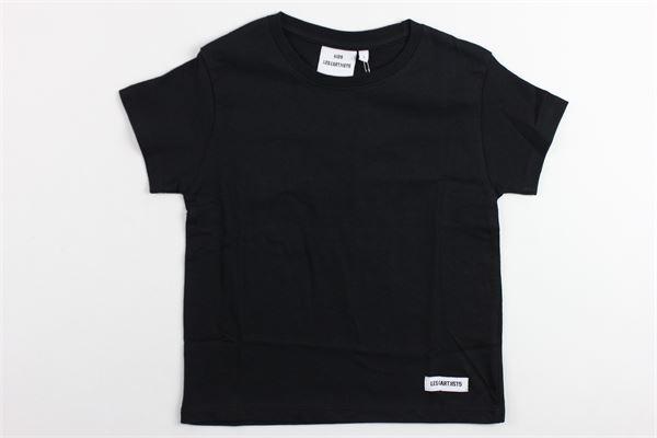 t-shirt mezza manica tinta unita con stampa dietro LES (ART) ISTS | T-shirts | KANYE77NERO