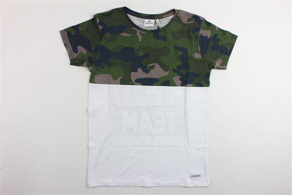 t-shirt mezza manica bicolore fantasia mimetica LES (ART) ISTS | T-shirts | MIXKANIEBIANCO