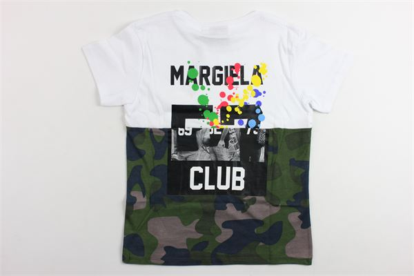 t-shirt mezza manica bicolore fantasia mimetica LES (ART) ISTS | T-shirts | MIXMARGELABIANCO