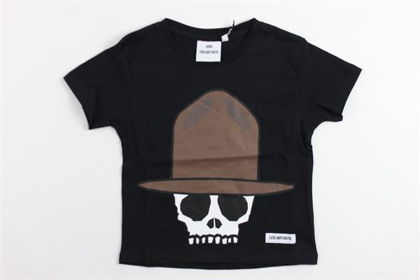 t-shirt mezza manica tinta unita con stampa teschio LES (ART) ISTS | T-shirts | SKULLPHARRELLNERO