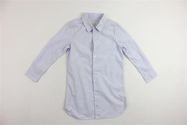 camicia manica lunga in cotone rigata LES COYOTES DE PARIS | Camicie | 330038BIANCO
