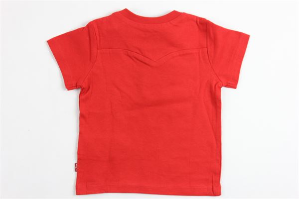 t-shirt mezza manica tinta unita stampa orso LEVI'S | T-shirts | NJ10034ROSSO