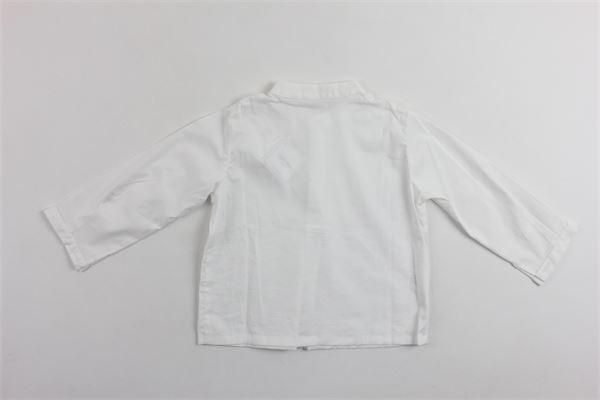 camica tinta unita manica lunga collo coreano modello serafino LITTLE BEAR | Camicie | 4125BIANCO