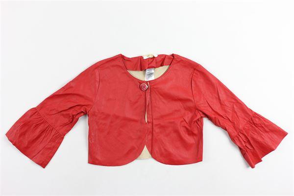 giacca manica 3/4 tinta unita in ecopelle LIU JO | Giacche | K18047E0497ROSSO