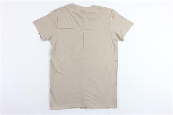 t-shirts mezza manica tinta unita con stampa MADD | T-shirts | B4452BEIGE