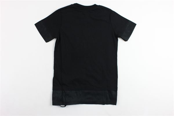 t-shirts mezza manica tinta unita profili in lino MADD | T-shirts | B4463NERO