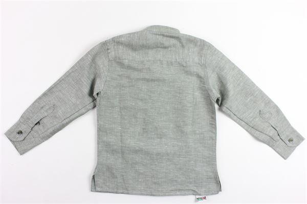 camicia manica lunga tinta unita collo coreano in lino MADD | Camicie | COREAVERDE