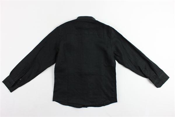 camicia tinta unita manica lunga collo coreano in lino MADD | Camicie | SAFARINERO