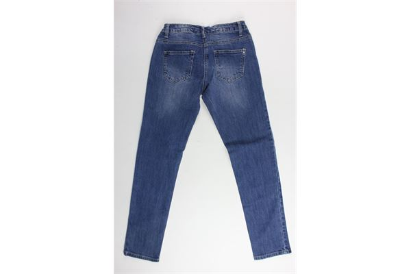 jeans 5 tasche tinta unita con applicazioni perle MAELIE   Jeans   013279BLU