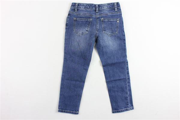 jeans tinta unita 5 tasche applicazione perle MAELIE   Jeans   013930BLU