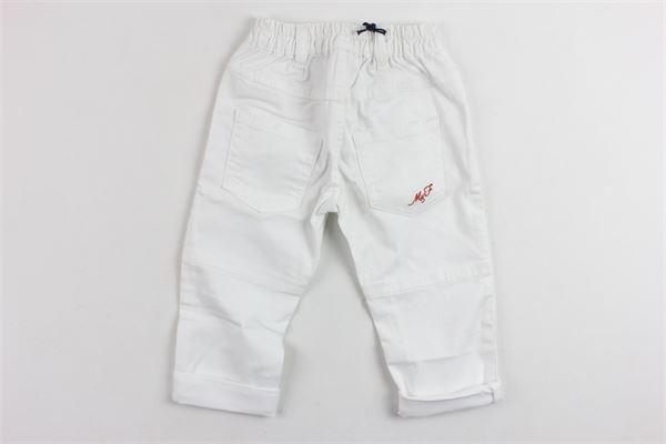 pantalone tinta unita in denim con strappi MANUEL & FRANK | Pantaloni | 2433M2433/NBIANCO