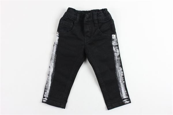 jeans tinta unita 5 tasche con profili laterali in contrasto MANUEL & FRANK | Jeans | MF1003NNERO