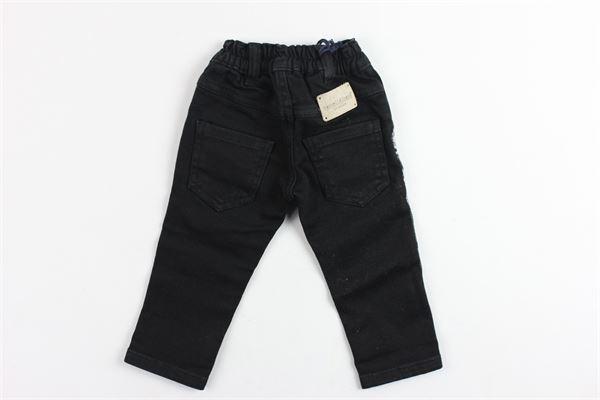 jeans tinta unita 5 tasche con profili laterali in contrasto MANUEL & FRANK   Jeans   MF1003NNERO