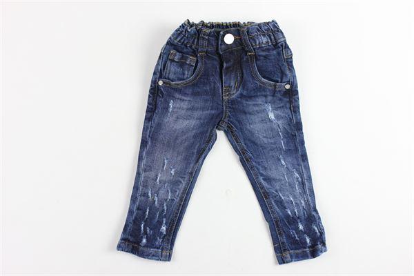 jeans tinta unita con strappi MANUEL & FRANK   Jeans   MF1013NBLU