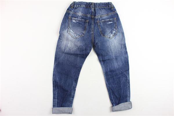 jeans 5 tasche tinta unita con strappi MANUEL RITZ | Jeans | MR0167BLU