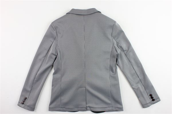 giacca microfantasia e profili in contrasto MANUEL RITZ | Giacche | MR0573NERO