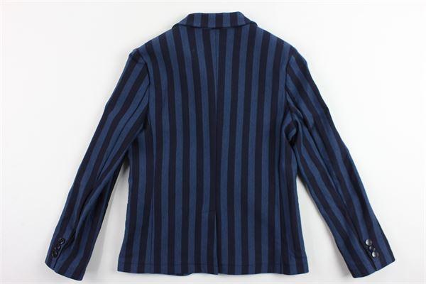 giacca rigata con taschino MANUEL RITZ | Giacche | MR0589BLU