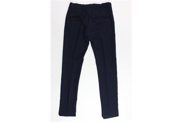 pantalone tasca america tinta unita girovita regolabile MANUEL RITZ | Pantaloni | MR0594BLU