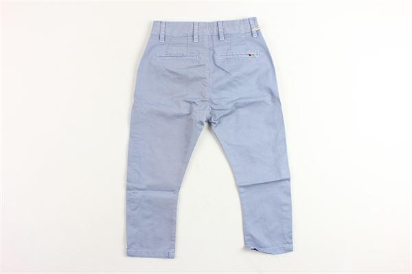 pantalone 5 tasche tinta unita in cotone MANUEL RITZ | Pantaloni | MR0660BLUETTE