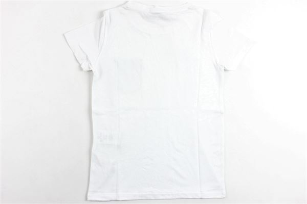 t-shirt mezza manica tinta unita con taschino in contrasto MANUEL RITZ | T-shirts | MR0709BIANCO
