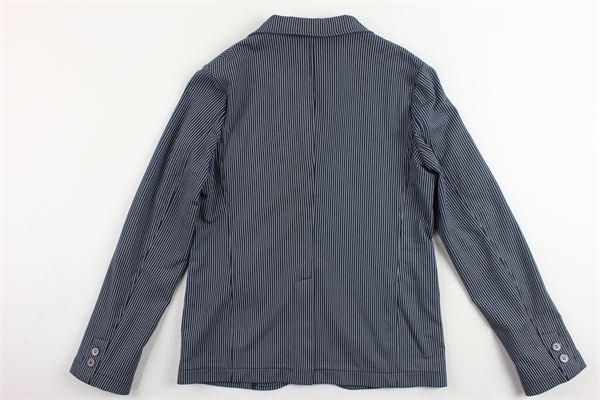giacca rigata in cotone felpato MANUEL RITZ | Giacche | MR0735BLU