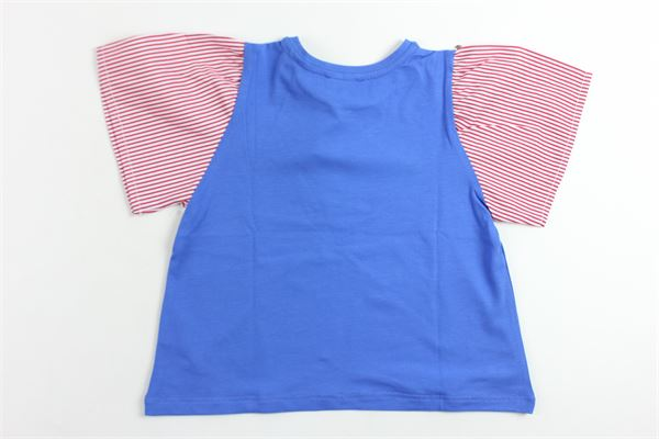 t-shirts tinta unita manica aletta in contrasto MARIUCCIA | T-shirts | MMBSS19T11COBALTO