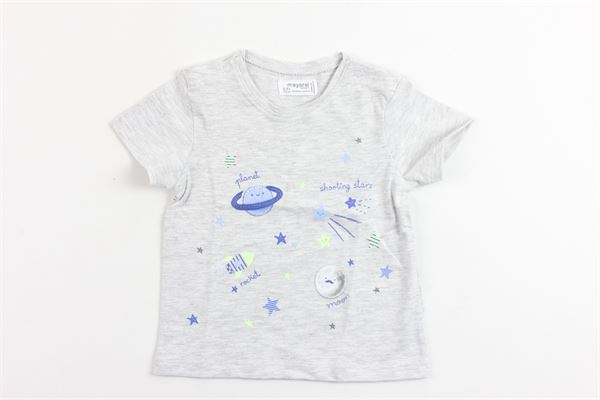 t-shirt mezza manica tinta unita con stampa MAYORAL | T-shirts | 1005GRIGIO